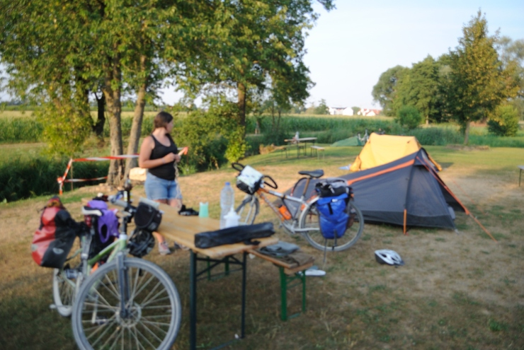 Noche en camping de Neustadt a.d. Donau